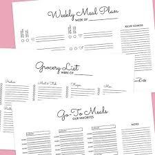 Weekly Meal Plan Interesting Weekly Meal Planner Bundle Editable Digital PDF And Etsy