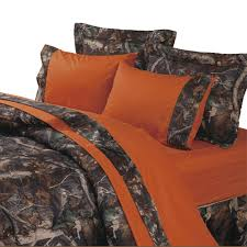 blaze orange camouflage sheets oak comforter sets