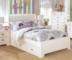 rectangle beige leather bed frame with storage and headboard