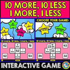 Interactive 100 Chart Free 10 More 10 Less Game Hundreds Chart Activity Puzzle Digital