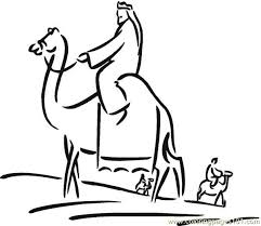 Small Picture Christmas Day 6 Coloring Page Coloring Page Free Camel Coloring