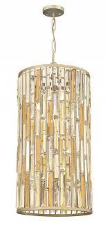 fredrick ramond fr33736slf gemma silver leaf drum pendant hanging light loading zoom