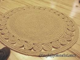 nautical decor natural rug jute rug accent rug round rug 40 inches 100cm no 007