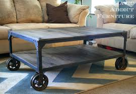 Industrial Coffee Table Industrial Coffee Table Industrial Wheeled Coffee Table Coffee