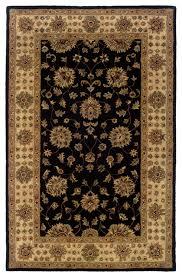oriental weavers windsor 23106 black ivory oriental area rug traditional area rugs by rugmethod