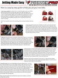 quality pit bikes mini bikes pit bike parts set up jetting jpg file