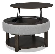 Silver medium round metal coffee table with lift top. Elroy Coffee Table With Lift Top The Brick