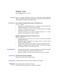 Business Development Executive Resume Business Development Executive CV CTgoodjobs Powered By Career Times 7