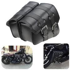 2pcs leather motorcycle side bags side saddle bags motorcycle saddlebags tool bags for harley sportster xl883 1200 black lazada ph