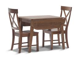 image council oak drop leaf table with 2 x back chairs