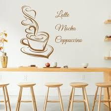 art design coffee wall decals latte mocha cappuccino coffee cup with love kitchen interior mural vinyl on cafe wall art design with art design coffee wall decals latte mocha cappuccino coffee cup with