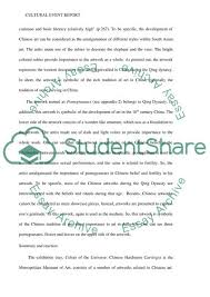 Example Of Essay Report Cultural Event Report Essay Example Topics And Well