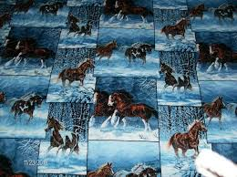 11 best Fabric images on Pinterest | Yards, Accent colors and Crafts & Wild Horses Fabric Queen Quilt. $300.00 Adamdwight.com