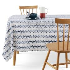 marilou cotton linen mix tablecloth la redoute interieurs