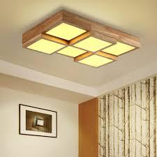 lighting wood. Wooden Modern Led Ceiling Lights For Living Room Bedroom Luminaria De Teto Japanese Style Frame Lighting Wood O