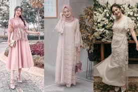 30 model kebaya brokat modern pendek panjang terbaru 2019. 10 Model Dress Brokat Terbaru Anggun Buat Gaya Pesta