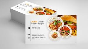 Fast Food Business Card Design Catering Business Card Design Photoshop Tutorials