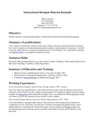 Instructional Design Resume Examples Resume Examples Templates Simple Instructional Design Resume 4