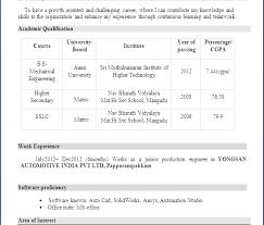 Indian Resume In Word Format Pelaburemasperak