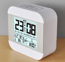 fashion large lcd display led clock 7 sets alarming night light clock