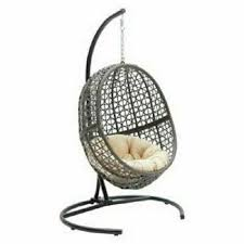 outdoor hanging chair wicker resin egg