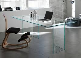 contemporary office desk glass