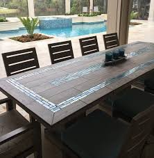 replacing glass patio table top with tile ideas