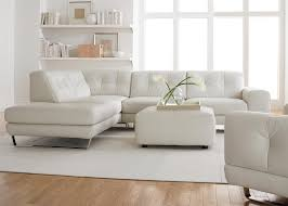 Lowes Living Room Furniture Furniture Excellent White Natuzzi Leather Sectionals Sofa With