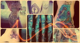 морские тату примеры готовых татуировок на фото
