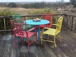 diy painted metal patio is easy to do with spray paint or with a paintbrush using melamine paint