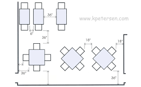 restaurant table aisle spacing drawing plan view