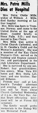 Obituary for Petra Otelle Mills - Newspapers.com