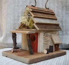 Rustic Birdhouses Rustic Birdhouse With Porch Antique White Bird House