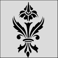 Budget Stencils Medieval Sprig Solo Stencil From The Stencil Library Budget