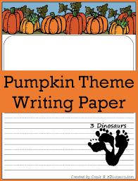 pumpkin themed writing paper dinosaurs  pumpkin themed writing paper com