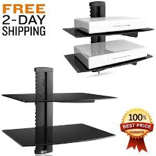 Floating Shelves For Tv Accessories Entertainment Wall Shelf TV Floating Tempered Glass Mount Bracket 80