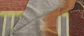 Orange and grey rug