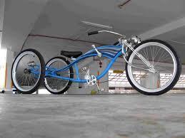 rat rod stretch cruiser trike beach bike mustang frame matt black