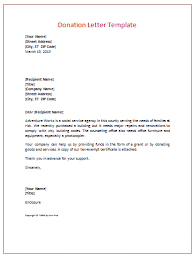 Donation Letter Example Fascinating Donation Letter Templates For Fundraising Free Examples And Formats