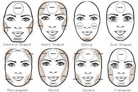 this picture shows how you should put makeup on your face to contour it it shows each face shape and how you can blend it