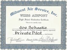 Elegant Image Of Private Pilot Certificate Business Cards And Resume