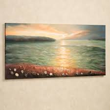 sunrise on pebble beach canvas wall art throughout plan