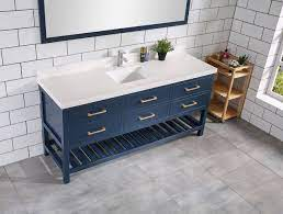Willow Collections 60 In W X 22 In D Single Basin Vanity In Hale Navy Blue With 5 Cm White Quartz Willow Bathroom Vanity
