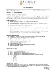 Objective For Waitress Resume Sample Waiter Example With Skills