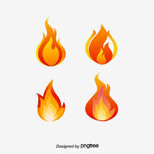 Fire Color Chart Vector Red Flame Chart Flame Clipart Color Of Fire Red