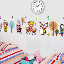 animal band children s bedroom decorative notes from sticking paper children s classroom cartoon wall stickers