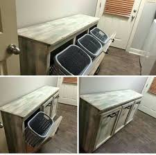 This looks so much better than hampers sitting around! Laundry Room  TablesPallet Ideas ...