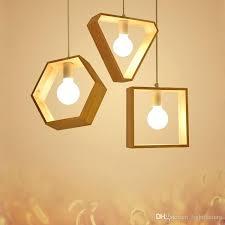 wooden pendant light modern wood hang lamp aisle restaurant bar home lighting dinning room fixture hanging wooden pendant light