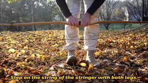 how to use a stringer to string up a longbow style bow