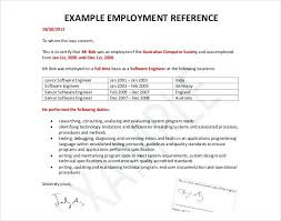 Sample Employment Reference Letter Recommendation Letter To An